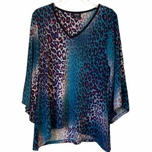 Nicole Miller Stretchy Leopard Print Top